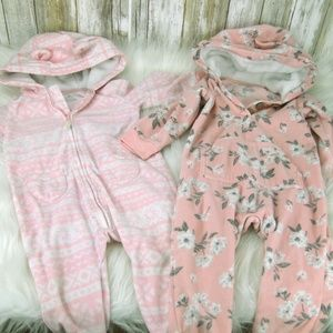 girls 12 months lot of 2 Carters Cute Hooded jumps